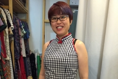 Black Gingham Cheongsam