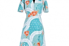 Chelsea Dress in Teal Batik